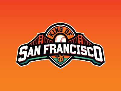 King of San Francisco golden gate san francisco baseball mlb fantasy daily fantasy sports sports logos logos sports sports design dfs