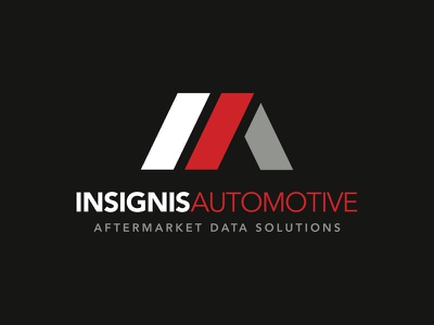 Branding: Insignis Automotive abstract logo iconic logo data solutions red and black corporate logo acronyms monograms insignia insignis automotive logo ia logo