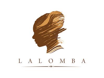 Lalomba Music Logo Design judith sephuma lalomba branding woman illustration illustration agent orange design brushes painted logo design african portrait illustration african logo