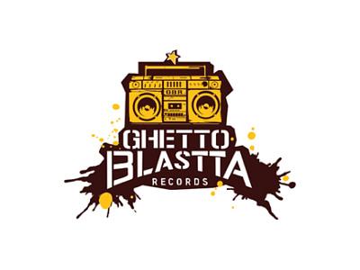 Ghetto Blastta Records Logo Design agent orange design music store logo music logo brown yellow african logo radio logo records logo ghetto blaster ghettoblaster record label