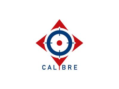 Calibre Logo events logo agent orange design icon logo blue red targets focus logo aim target logo calibration caliber calibre logo