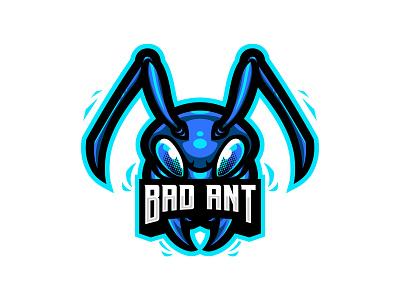 Bad Ant - Logo Design ants animal logo agent orange design logo designers blues mascot logo insect logo ant illustration ant logo
