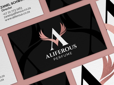 Aliferous Perfume Logo Design light wings angel wings agent orange design fragance for women pink logo elegant logo feminine logo fragance logo perfume logo wings letter a rose gold rose gold logo aliferous