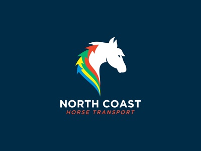 North Coast Horse Transport Logo colorful agent orange design south african brand horse transport equine animal logo design equestrian transport logo animal logo horse logo