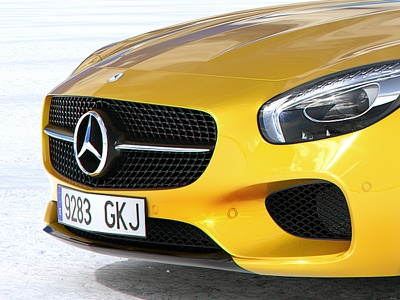 Mercedes Benz AMG GT digital 3ds max 3d cgi car visualization vray retouch backplate render rendering