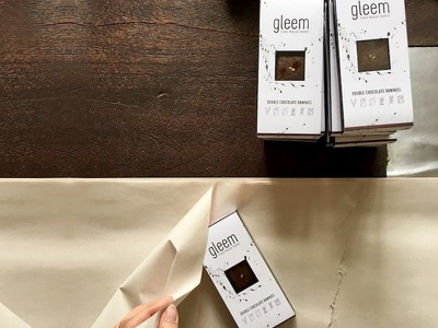 Gleem Packaging icons minimal chocolate sweets design packaging redesign
