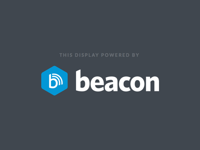 Beacon Turns 1.0! beacon logo digital sign display kiosk