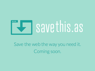 savethis.as logo save browser website api