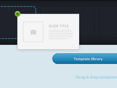 Drag n Drop timeline slide blue button template drag drop ui add drag and drop