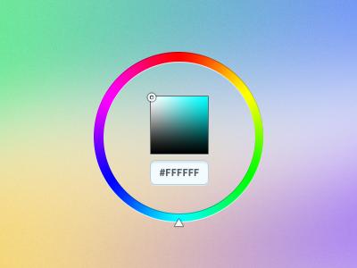 Pick a color, any color. ux ui colors color picker hex hue saturation brightness widget