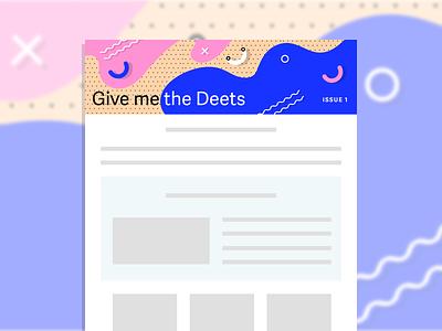 Newsletter Header Design design typography illustration