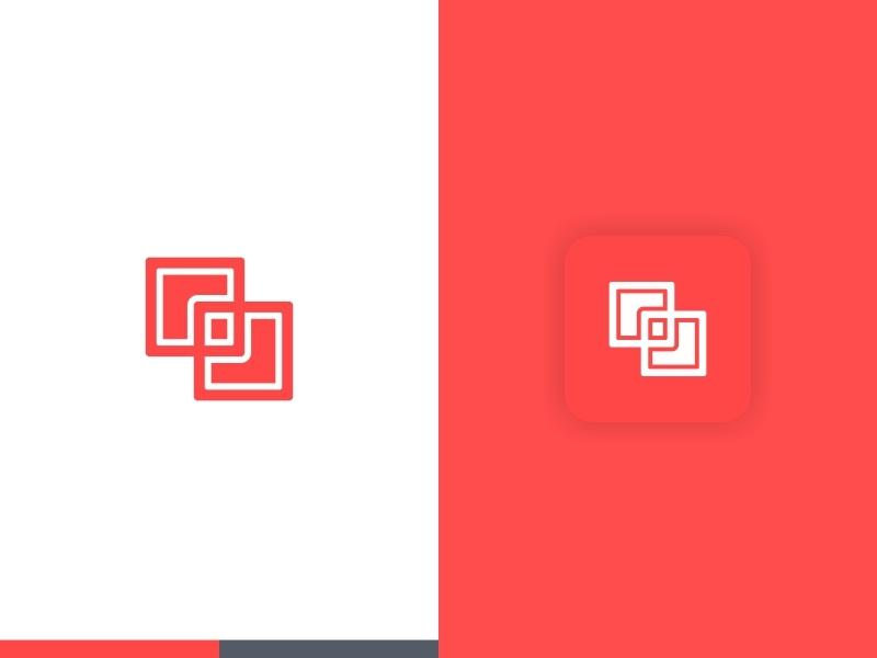 Creative Box Logo desain logo palet warna logo ikon aplikasi red creative box