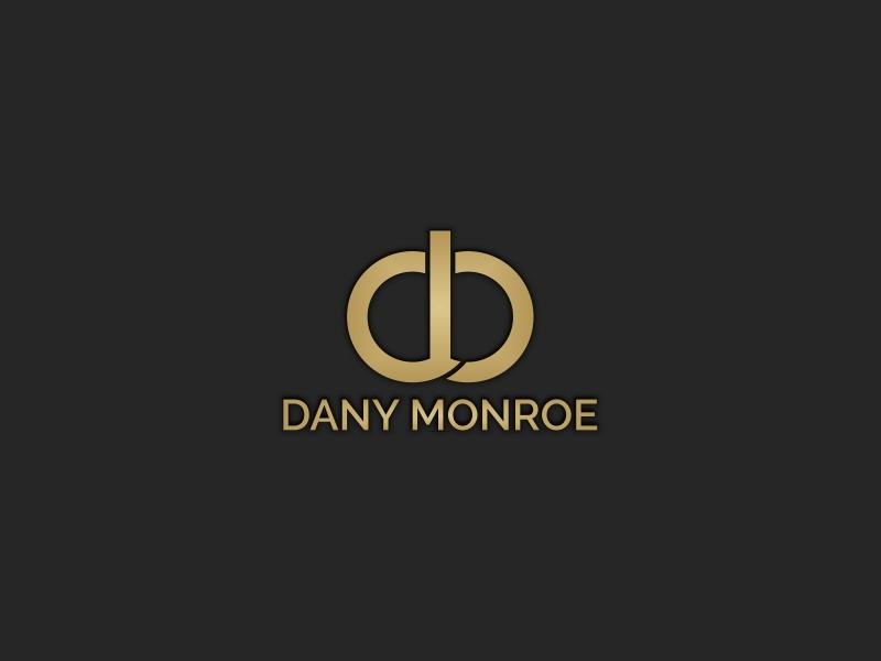 Dany Monroe Personal Branding ui surat desain vektor palet warna kreatif desain logo logo ikon aplikasi gold luxury font initial branding personal
