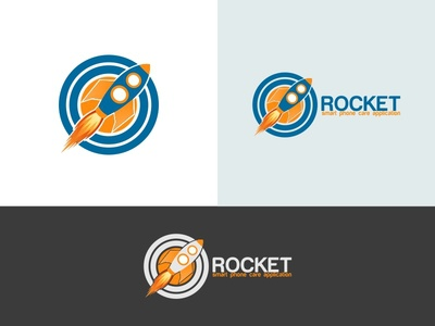 Rocket Brand Identity Logo