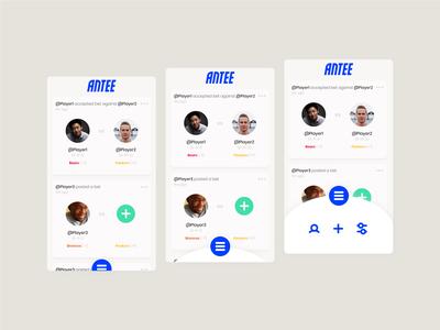 Antee App Design Mockup