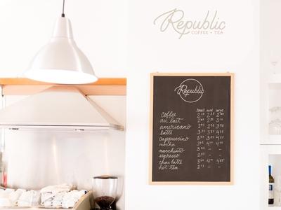 Logo and Menu Design - Republic Cafe