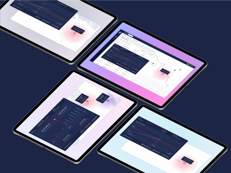 Hologram Inflight Alerts on iPad Pros webflow ui ipad pro ipad iot dashboard