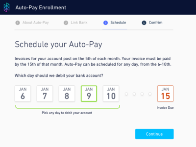 Hologram Auto-Pay Date Picker