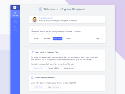New Account Onboarding landing guide new account setup welcome onboarding