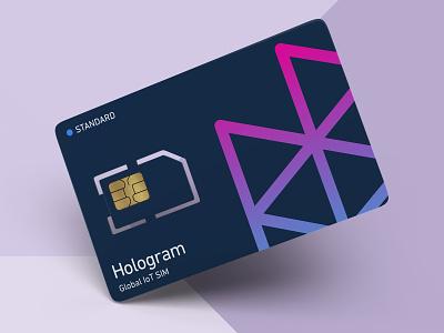 Hologram IoT SIM Card branded product product design physical render product card product physical sim card sim iot