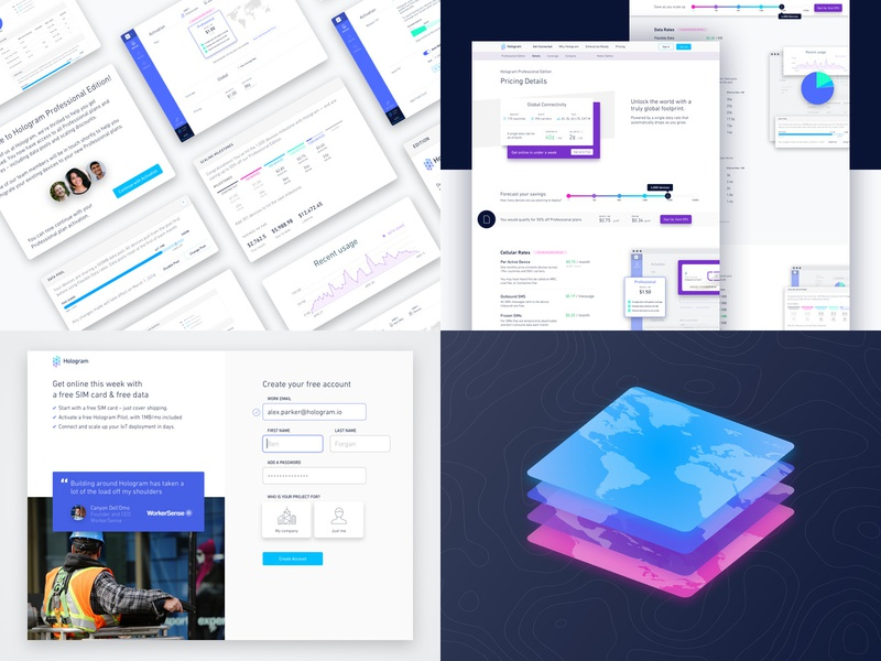 Top Shots 2018 pricing marketing sign up illlustration ui design system create account dashboard onboarding iot