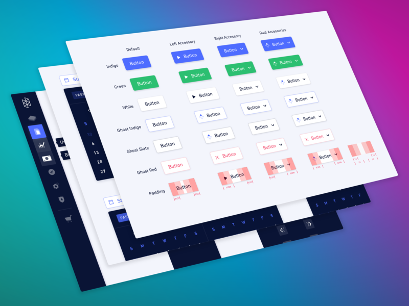 Hologram Stellar Design System enterprise software dashboard buttons button states enterprise ux design systems iot b2b enterprise