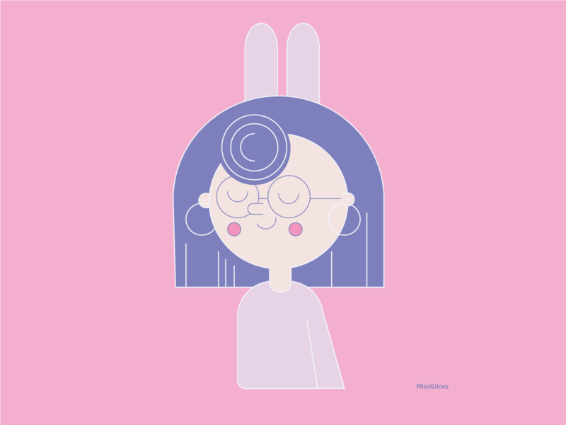 Miss simple vector illustration design