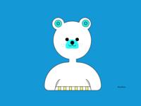 TheSimpleSummerbear bear art vector cute animal cute color background illustration simple design
