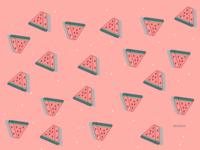 watermelon pattern iphone watermelon wallpaper color art vector illustration background simple design