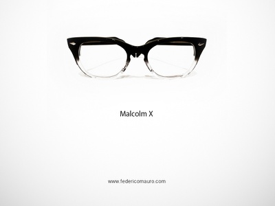Malcolm X malcolm x famous eyeglasses eyewear federico mauro minimal design icons