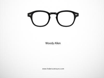 Woody Allen famous eyeglasses eyewear federico mauro minimal design icons