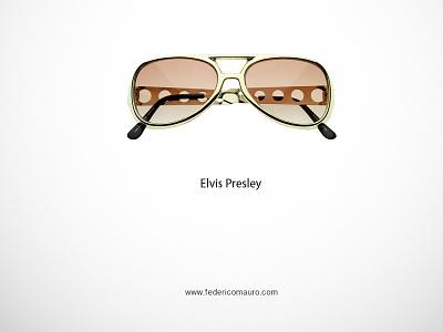 Elvis Presley elvis presley famous eyeglasses eyewear federico mauro minimal design icons