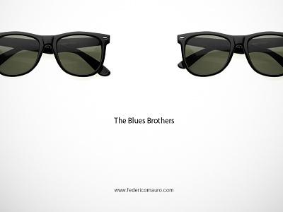 The Blues Brothers famous eyeglasses eyewear federico mauro minimal design icons
