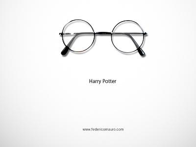 Harry Potter harry potter famous eyeglasses eyewear federico mauro minimal design icons