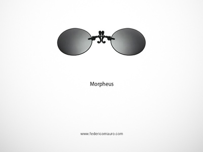 Morpheus famous eyeglasses federico mauro morpheus the matrix minimalist design icon cinema movie celebrities