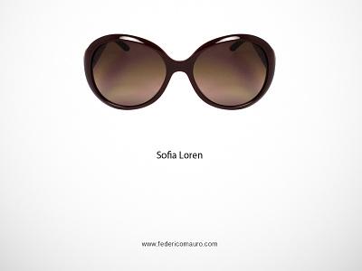 Sophia Loren sophia loren famous eyeglasses federico mauro minimalist design icon cinema movie celebrities