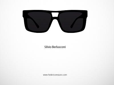 Silvio Berlusconi famous eyeglasses federico mauro minimalist design icon cinema movie celebrities