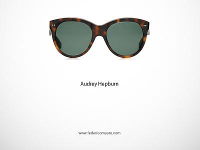 Audrey Hepburn audrey hepburn famous eyeglasses federico mauro minimalist design icon cinema movie celebrities