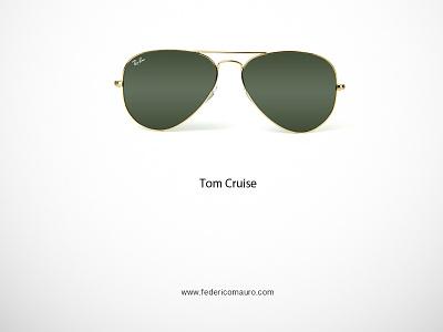 Tom Cruise famous eyeglasses minimalist eyewear federico mauro celebrieties iconic icon top gun tom cruise