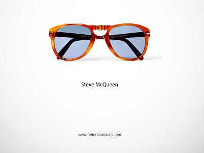 Steve McQueen famous eyeglasses minimalist eyewear federico mauro celebrieties iconic icon steve mcqueen
