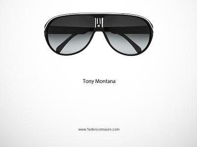 Tony Montana famous eyeglasses minimalist eyewear federico mauro celebrieties iconic icon tony montana scarface