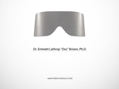 Doc famous eyeglasses minimalist eyewear federico mauro celebrieties iconic icon doc back to the future