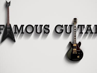 Famous Guitars famous guitars guitarist music federico mauro minimalist art direction