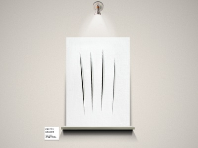 Freddy Krueger freddy krueger nightmare monsters exhibition minimalist design federico mauro horror cinema icon film