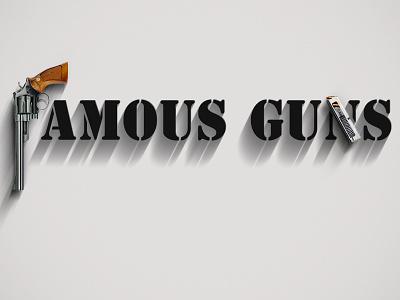 Famous Guns famous guns federico mauro famous things minimal iconic cinema movie pistols weapons