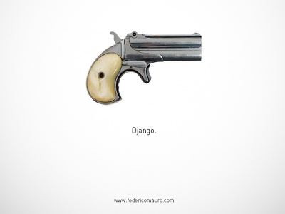 Django - Famous Guns famous guns federico mauro gun pistols movie cinema minimal iconic