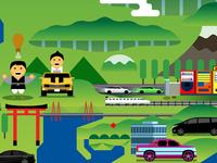 Rides 62 Hood Opener Japan Map Detail