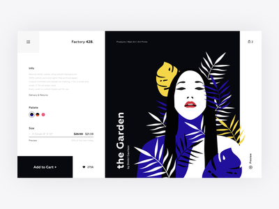 Paintings and canvases shop woman e-comerce ecommerce store shop cart paintings canvas white website product page product vector webdesign illustration web ux interface clean ui