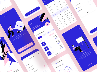 Payhub Financial App - UI table charts illustrations freebie money figma payment analitycs graphs finances finance mobile ios iphone illustration app ux interface clean ui