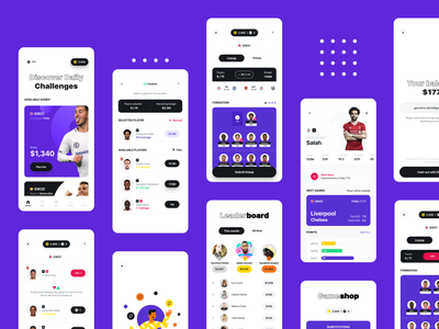 Football manager mobile app ux ui app ios bet betting manager soccer footbal football sport gambling mobile interface dashboard profile player